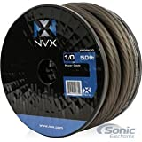 NVX 0 Gauge: 50 Ft Frosted Black Power/Ground Wire [XW0BK50]