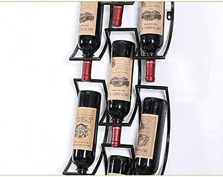 KXBYMX Vinoteca Hierro Colgante de Pared Vino Titular de Vidrio de Vino (Color : B)