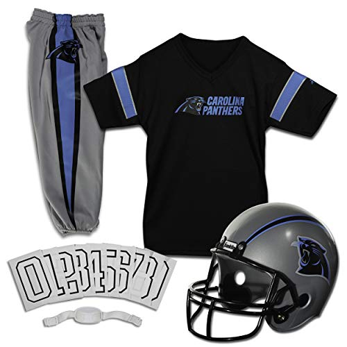 Franklin Sports Deluxe NFL-Style Youth Uniform - NFL Kids Helmet, Jersey, Pants, Chinstrap and Iron on Numbers Included - Football Costume for Boys and Girls, Large
