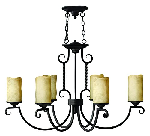 (Hinkley 3508OL Transitional Six Light Chandelier from Casa collection in Blackfinish,)