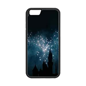 Iphone 6 Case Castle Fireworks by Leemarson for Black Iphone 6 (4.7)inch Screen lmar607092