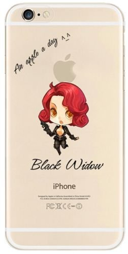 New Marvels Avenger Transparent Clear TPU Soft Case For Apple iPhone 7 Plus BLACK WIDOW