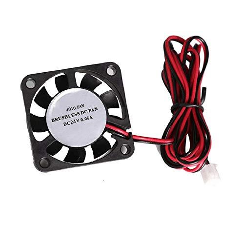 HoganeyVan 24V DC Ventola di raffreddamento per stampante 3D Accessorio CPU GPU estrusore Mini ventola di raffreddamento Parti di ricambio Dissipatori di calore