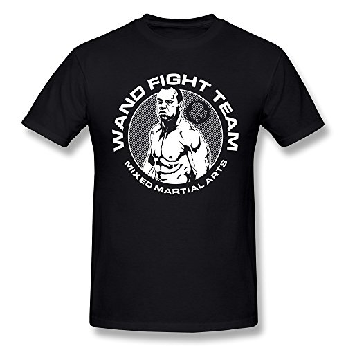 (Jasmincc Men's Wand Fight Team Wanderlei Silva Tees Black Large)