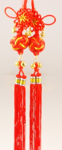 Chinese Knotting with bells - Red