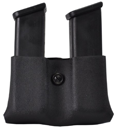 Safariland Duty Gear Glock 17, 22, 34, 34, Sig P229 Concealment Double Handgun Magazine Pouch (FT Black) (Mag Safariland Pouch Double)
