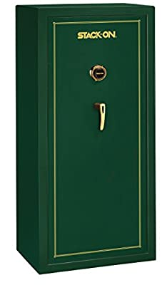 Stack-On SS-22-MG-C 22 Gun Fully Convertible Security Safe with Combination Lock, Matte Hunter Green