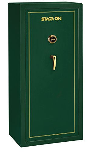 Stack-On SS-22-MG-C 22 Gun Fully Convertible Security Safe with Combination Lock, Matte Hunter Green by Stack-On