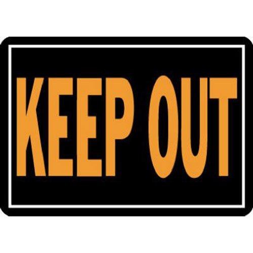 Hy-Ko 807 Keep Out Sign, 10