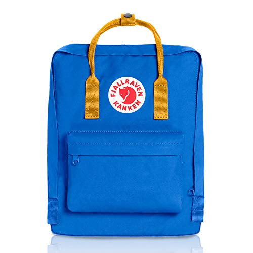 Fjallraven - Kanken Classic Pack, Heritage and Responsibility Since 1960, One Size,UN Blue/Warm Yellow