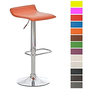Tabouret De Bar Reglable En Hauteur.Clp Tabouret De Bar Reglable En Hauteur Dyn Assise Revetu De Similicuir Chaise De Bar Pivotante A 360 Avec Repose Pied Pietement En Metal Aspect