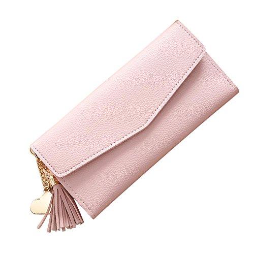- Women Simple Long Wallet Fashion99 Tassel Coin Purse Card Holders Handbag