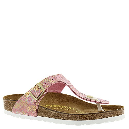 Birkenstock Women's, Gizeh R Fit Sandal Rose 3.7 - Thong Classic Pink