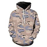 Uqiangy Men's Funny Jacket Pocket Hooded Camouflage Sweatshirt Coat(Gray,L)