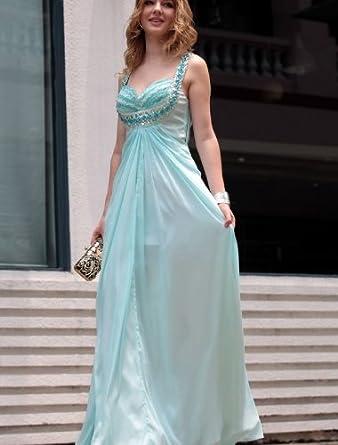 90032424dd FAIRYDRESS FD2698 robe de bal et cérémonie bleu clair long tube d'Décolleté  en coeur Mousseline de soie ...