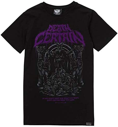 Killstar Death is Certain T-shirt uniseks: Odzież