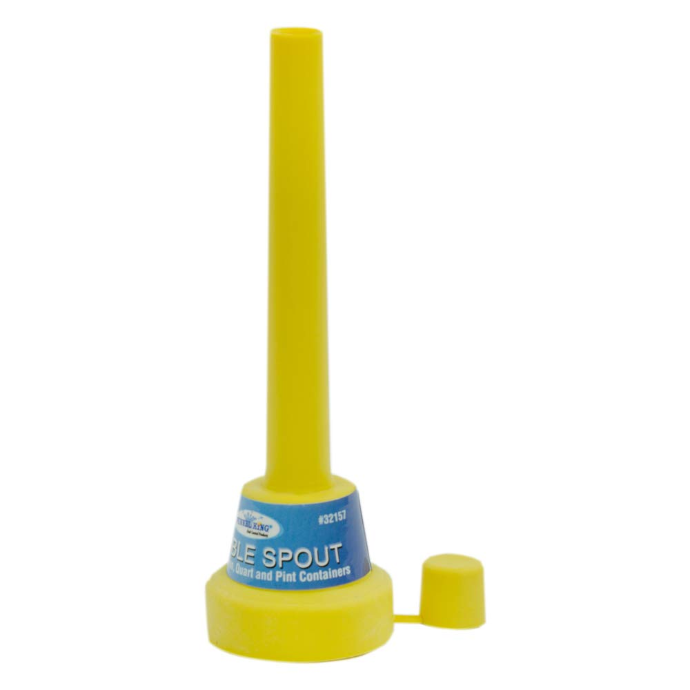 5Inch Yellow Flexible Spout Funnel compatible Cap