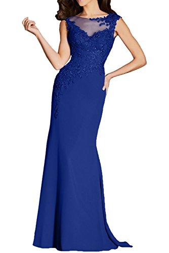 Brautmutterkleider Lang Festlichkleider Ballkleider Abendkleider Spitze Formal mia La Royal Blau Damen Trumpet Braut wxv8qz