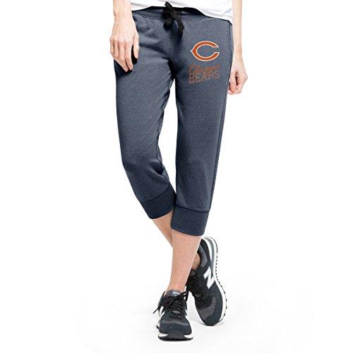 NFL Chicago Bears Women's '47 Forward Stride Capri Pants, Shift Navy, (Bears Womens Pants)