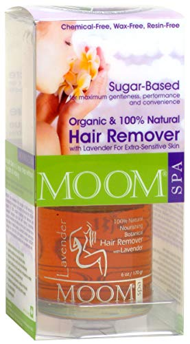 Sugar Body Wax (Moom Organic Hair Removal Kit With Lavender, 6-Ounce Package)