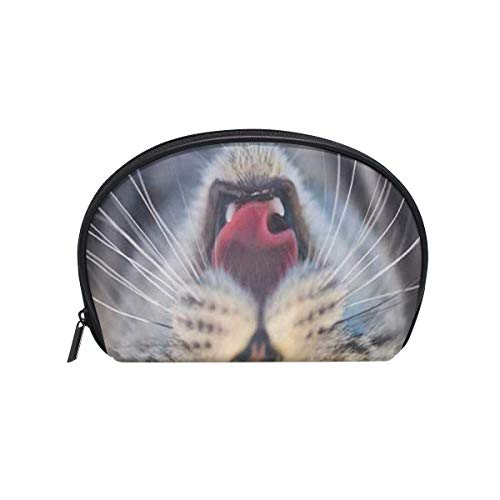 Cosmetic Bag 3D Funny Cat Blurred Customized Shell Makeup Bags Organizer Portable Pouch for Women/Girls
