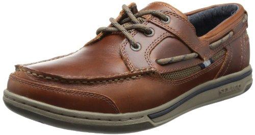 Sebago TRITON THREE-EYE, Scarpe stringate modello Oxford uomo Marrone (Brown Oiled Waxy Lea)