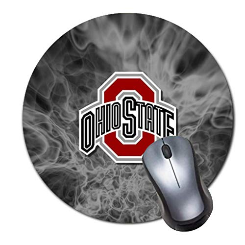 CASEOET Round Gaming Mouse Pad Custom Design, 8 Non-Slip Rubber Mousepad Mat for Desktops, Computer, PC and Laptops(The Ohio State University)
