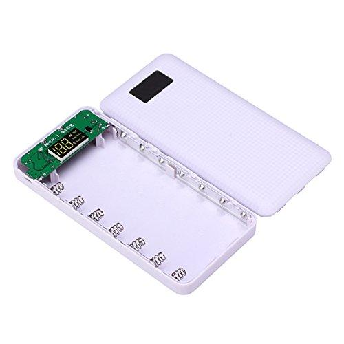 MASUNN 3 en 1 7Slots DIY Pantalla LCD Smart 18650 Cargador ...
