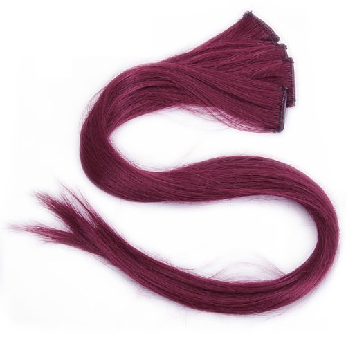 Burgundy Extensions Straight Highlights Pieces product image