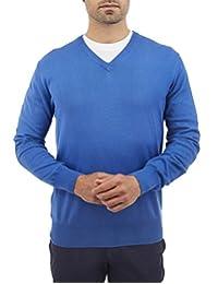 Sueter Cuello V Azul Medio