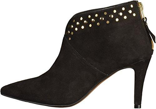 Tamaris cuero de arranque de tacón alto de la bota del tobillo Negro 1-25376-27 001 Negro Black