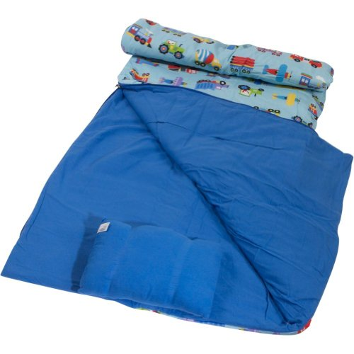 Olive Kids Train, Planes and Trucks Sleeping Bag, Outdoor Stuffs