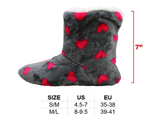 Cheetah Pink Women's Stars Polka 2 Lounge Dots Hot Slipper Boots hearts House Shoes Relaxed Enimay Ozqd7xBw87