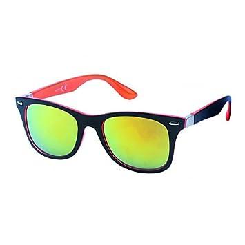 Chic-Net Nerd Sonnenbrille verspiegelt 400 UV seitlich transparent farbig Wayfarer weiß CTANUCsXUh