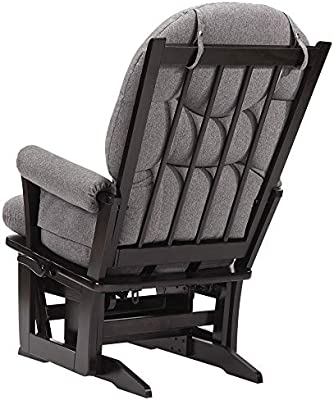 Dutailier Modern 0408 Glider Multiposition-Lock Recline with Nursing Ottoman Included