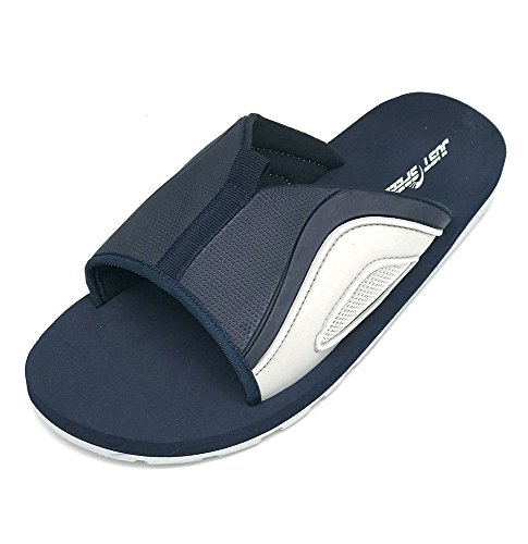 Sandal Flexible Slipper Mens Soft Navy Gray Light Cushion Comfortable Slipper Just Slide Shoe Speed Footbed WvAwnAU4I