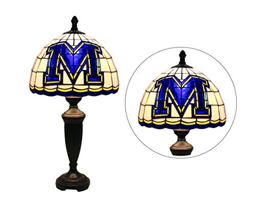 Happy Living Lighting 12-inch NCAA Missouri Tigers Stained Glass Table Lamp 24.8 -inch Total ()