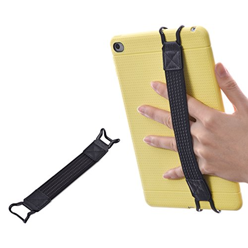 TFY Security Hand-Strap for Tablets -Compatible with iPad (New iPad/iPad Mini & Mini 2 & Mini 3 / iPad Air/iPad Air 2 / iPad Pro 9.7 Inch) - Samsung Tablets - Nexus 7 / Nexus 10 and More (Ipad Mini 2 Ipad Mini 4 Comparison)