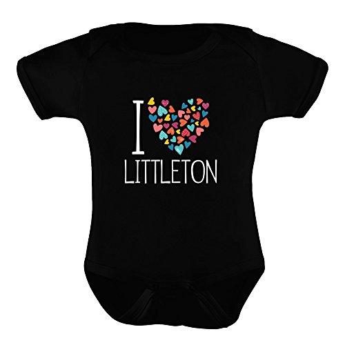 Idakoos - I love Littleton colorful hearts - US Cities - Baby (Fun City Littleton)