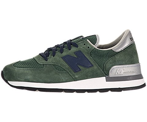 New Balance M990 Men's Running Shoe, Size: 11 Width: D Color: Green/Navy (Mens 990 Running Sneaker)