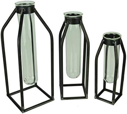 PD Home Garden Modern Art Glass Tube Bud Vase