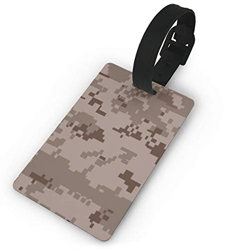 Field Rain Desert Army Camouflage Fashion Luggage Tag PVC Travel ID Suitcases Label For Bag