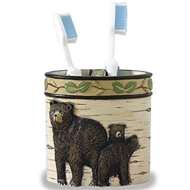 Park Designs Black Bear Toothbrush Holder