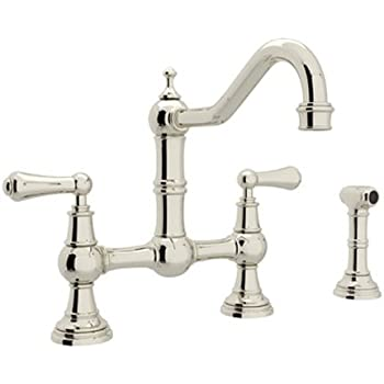 Rohl U.4755X-STN-2 Perrin and Rowe Provence Cross Handle