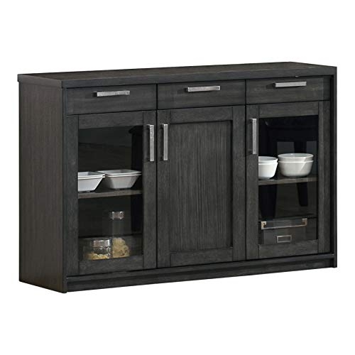 Sideboard 48 (Monarch Specialties Charcoal Grey Veneer Server, 48-Inch)