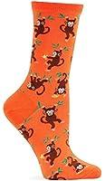 Hot Sox Men's Monkey Crew Sock