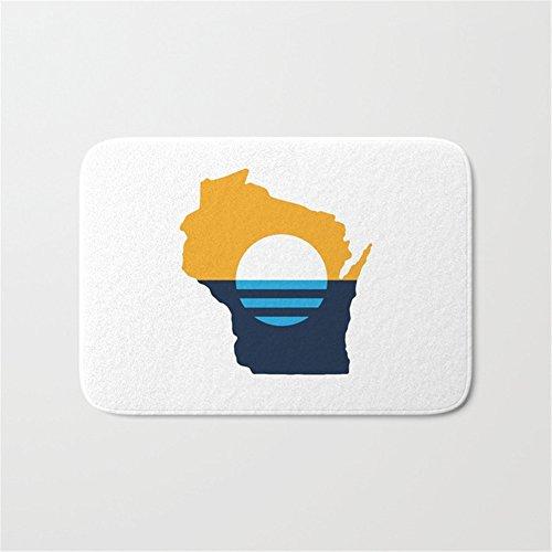 Hbesa Wisconsin   People Flag Of Milwaukee Bath Mat Doormat 16 24 Inch