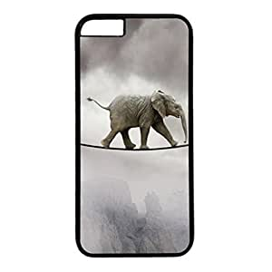 good case DIY iphone 5 5s case cover Custom cell phone case cover mfIIc1xVf2z Skin for iphone 5 5s With Elephant Tightrope Walking