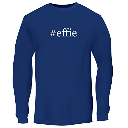 BH Cool Designs #Effie - Men's Long Sleeve Graphic Tee, Blue, Large