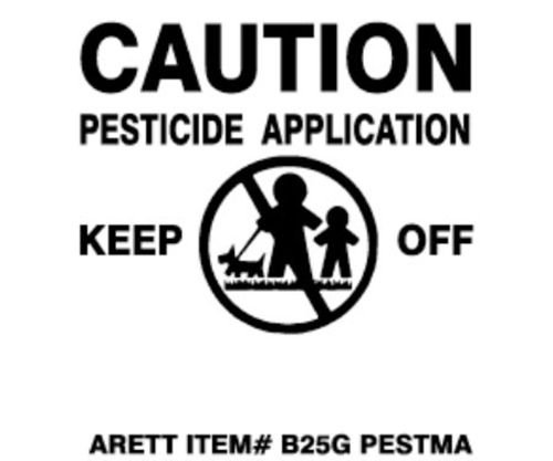 Pesticide Flags with Plastic Stakes